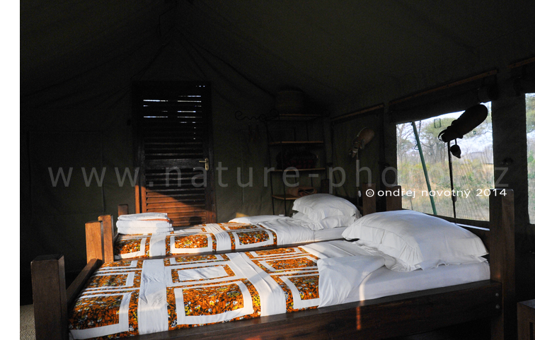 Tandala Tented Camp - interiér safari stanu